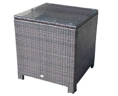 Outsunny Rattan Side Table-Brown 5060348504306
