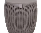 Outsunny 45L Outdoor Rattan-Effect Lift-Top Ice Cooler Table Grey 5056029880524