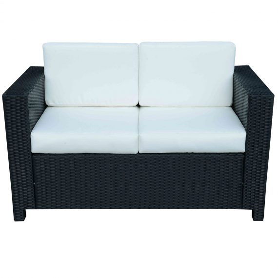 Outsunny Rattan 2-Seater Sofa-Black 5056029885116